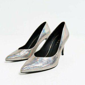 Zara Shoes Metallic Hologram Midi size 5